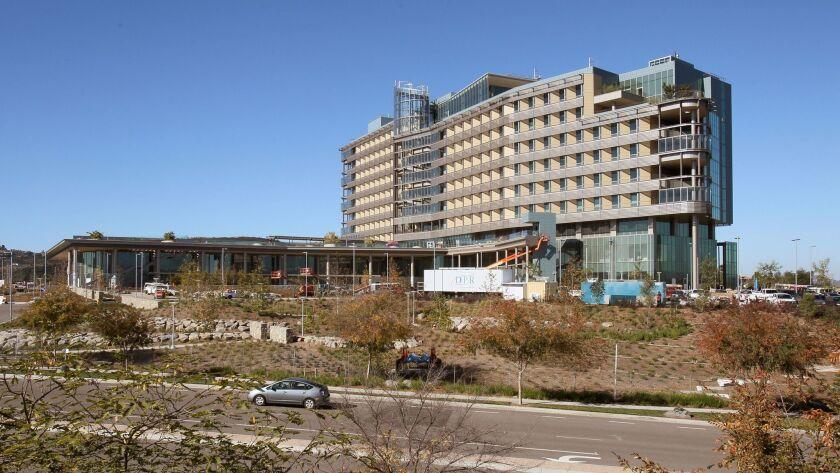 Palomar Medical Center West, on Citracado Parkway in Escondido, undergoing construction in 2011.