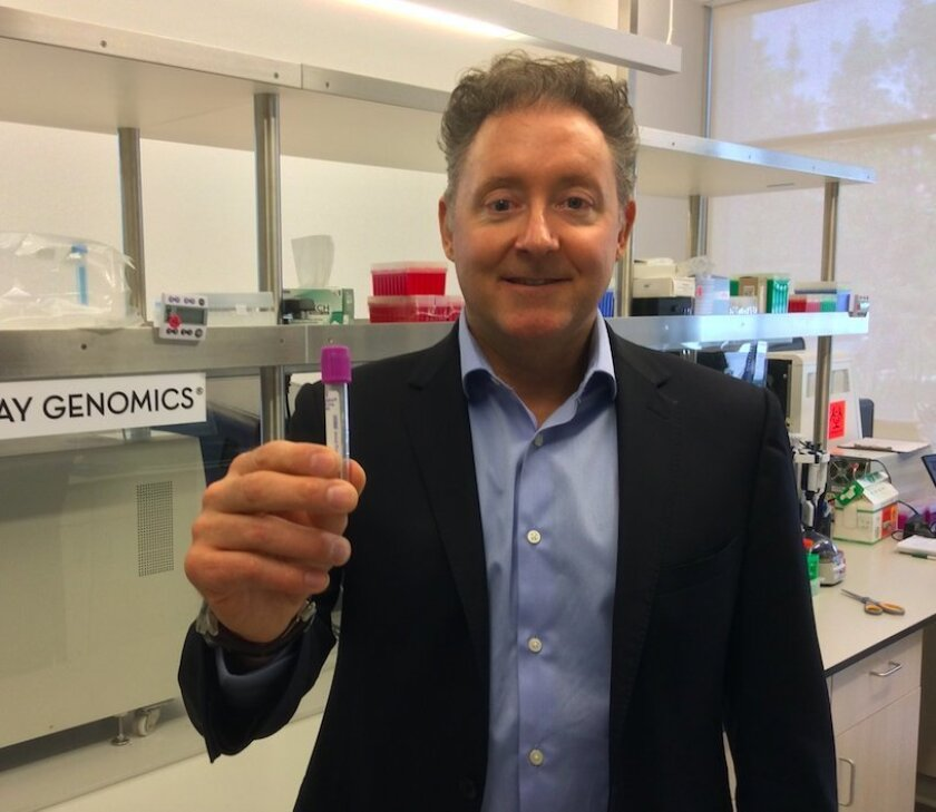 Jim Plante, founder and chief executive of San Diego's Pathway Genomics, says his companies new liquid biopsy test will to identify and monitor many types of cancer.