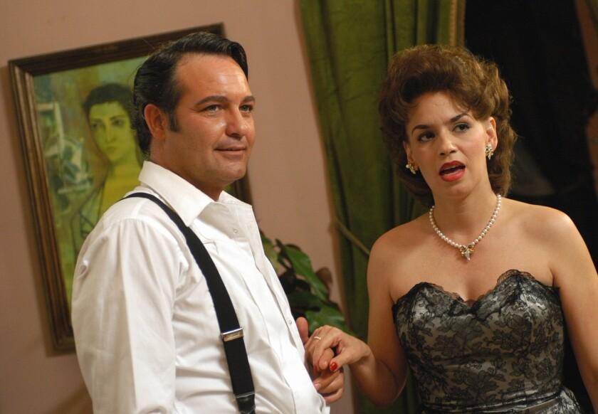 Los actores cubanos Jorge Perugorría y Broselianda Hernández.