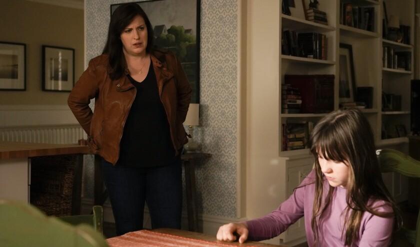 "Allison Tolman, left, and Alexa Swinton in ""Emergence"" on ABC."