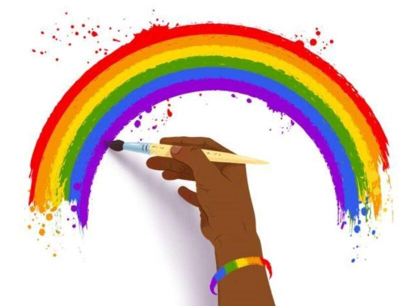 Rainbow painting.