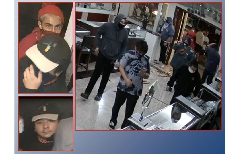 Surveillance images from Pierre's Jewelers