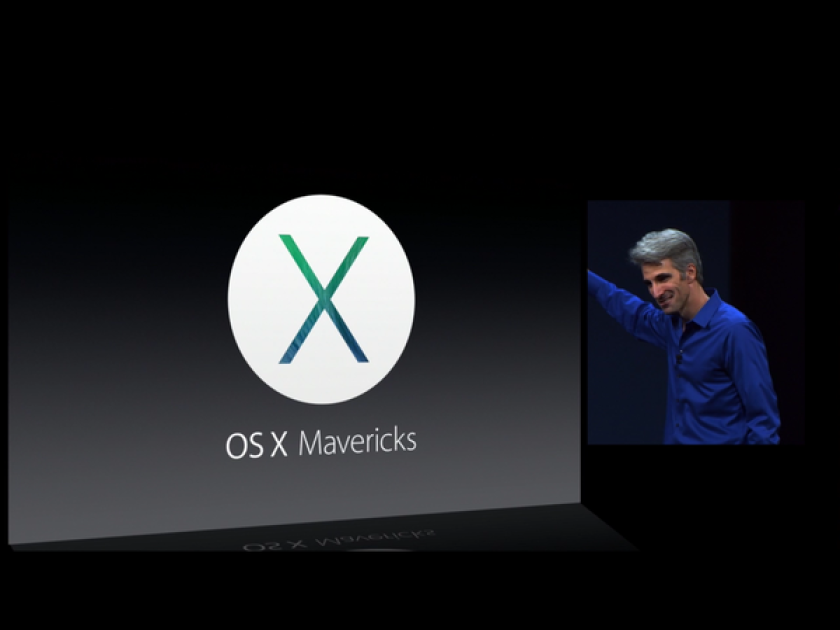 Apple introduced and previewed its new Mac operating system called Mavericks.