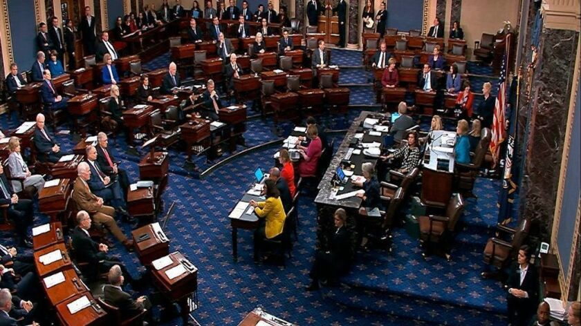 A view of the Senate chamber on Oct. 5 during a procedural vote on Brett Kavanaugh's nomination to the Supreme Court.
