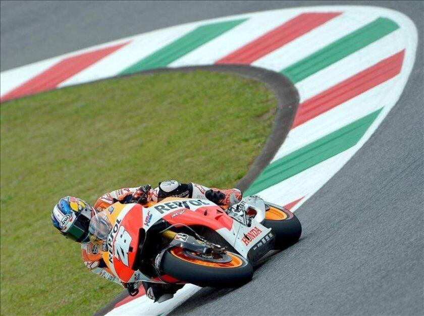 El español Dani Pedrosa, de Repsol Honda en el circuito de Mugello. EFE