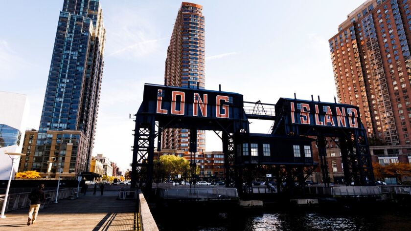 Amazon rumored to be considering new headquarters in Long Island City, New York, USA - 08 Nov 2018