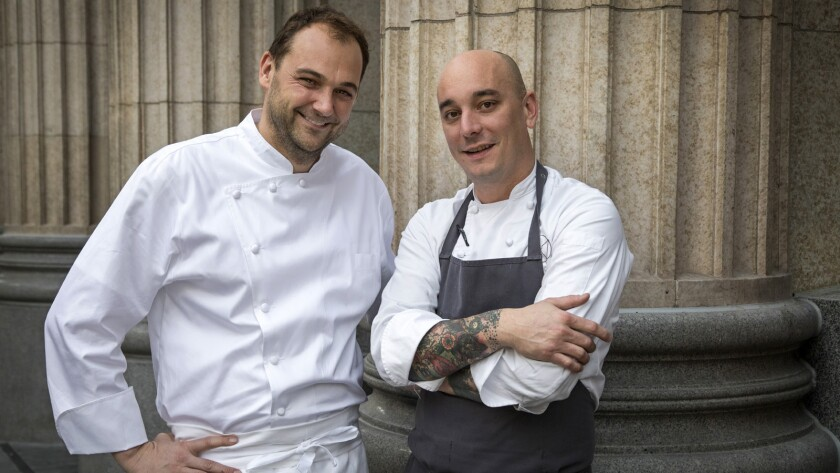 LOS ANGELES, CA - JANUARY 12, 2018 - Nomad Hotel Chef Daniel Humm, Lt, and Executive Chef Chris Fint