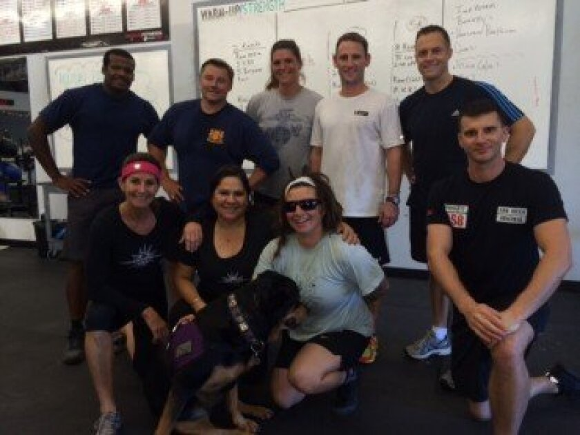 Wounded Warriors at CrossFit Del Mar.