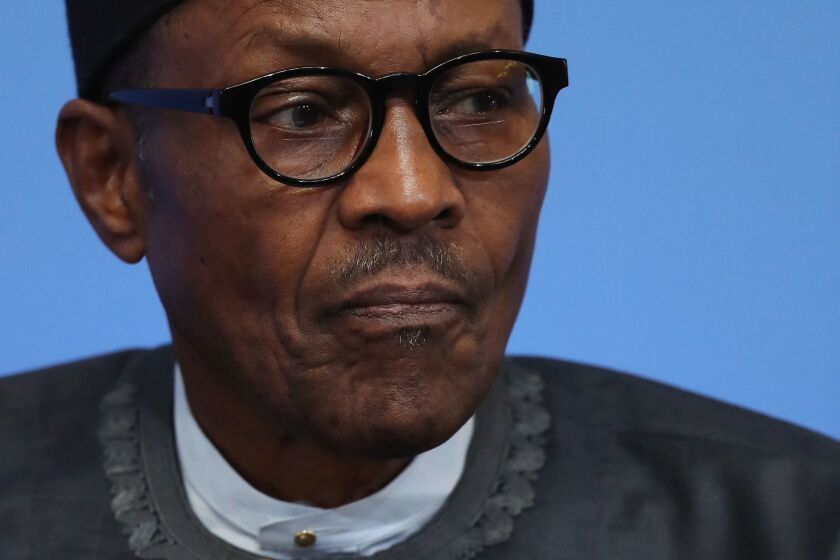 Nigerian President Muhammadu Buhari, currently on an extended visit to London for medical tests.