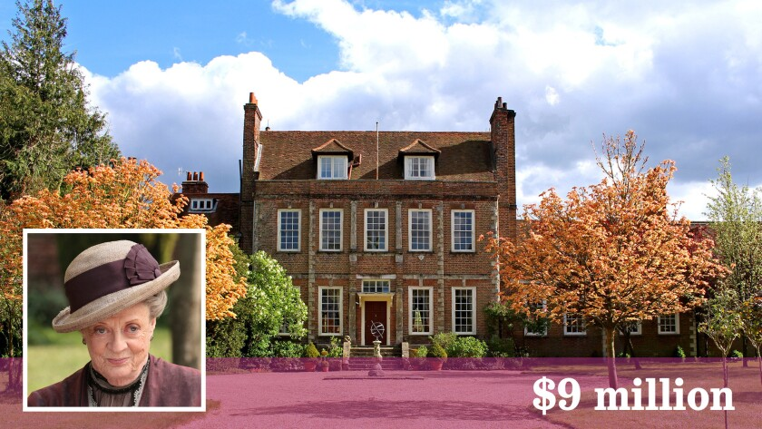 """The estate used on """"Downton Abbey"""" to portray the home of Maggie Smith's character, Lady Violet Crawley, has sold in Surrey, England."""