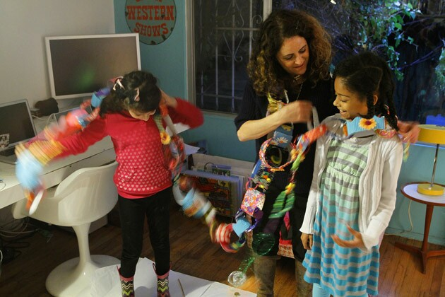 Artist Emily Green's kid party
