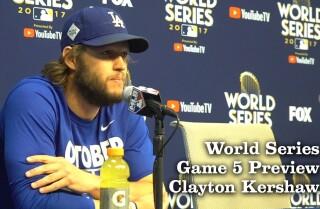 Clayton Kershaw on starting Game 5 of the World Series