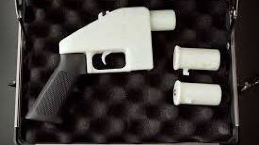 A 3-D-printed pistol called the Liberator was briefly offered on the internet.