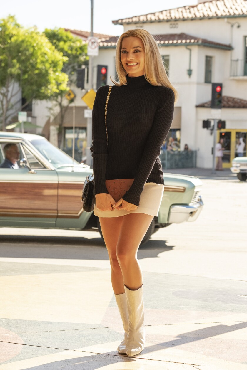 "Margot Robbie stars as Sharon Tate in ""Once Upon a Time ... in Hollywood."""
