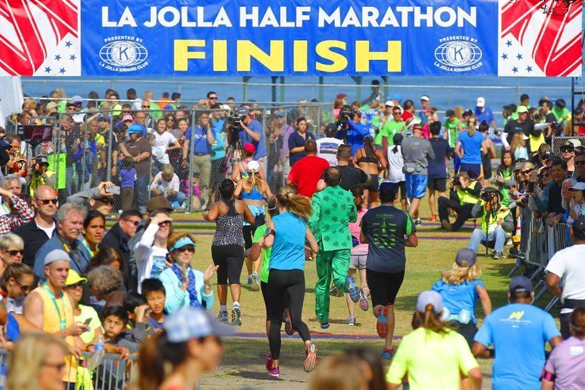 It was a beautiful morning as 6,000 runners competed in the 34th annual La Jolla Half Marathon April 26, 2015 with its finish line at La Jolla Cove's Ellen Browning Scripps Park, where there was a post-race festival with entertainment.