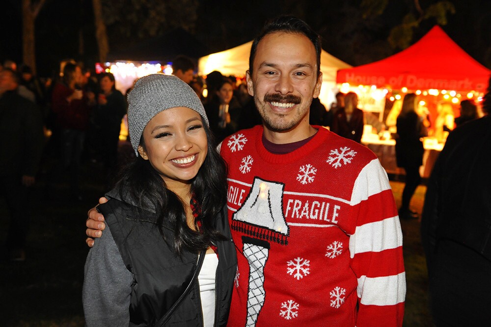 San Diegans flocked to one of the city's most iconic holiday events, December Nights at Balboa Park, on Friday, Dec. 7, 2018.