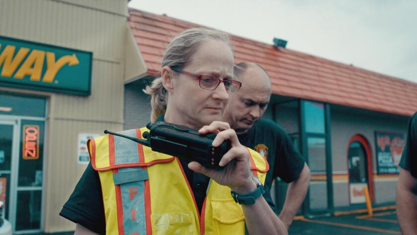 """Jan Rader, fire chief in Huntington, W.Va., responds to a drug overdose in the documentary """"Heroin(e)"""""""