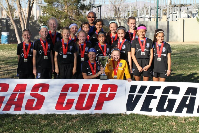 The Surf Girls Academy U12, coached by Steveo Leacock, were champions at the Las Vegas Cup soccer tournament that took place Jan. 17-19.