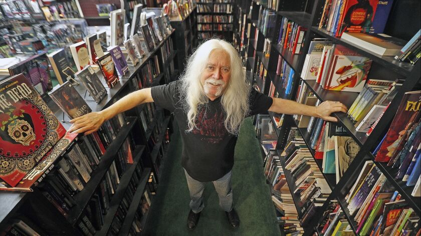 Burbank resident and store owner Del Howison at his horror shop Dark Delicacies in the Magnolia Park