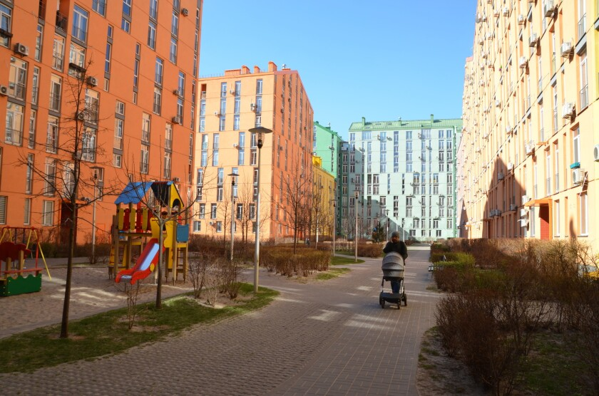 Comfort Town, a massive housing development that has taken shape in recent years in a drab, Soviet-e