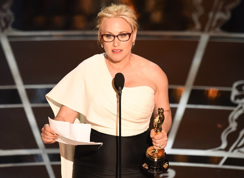 In her acceptance speech at the Academy Awards on Sunday, Patricia Arquette called for equal pay for women. On Tuesday, lawmakers in California responded.