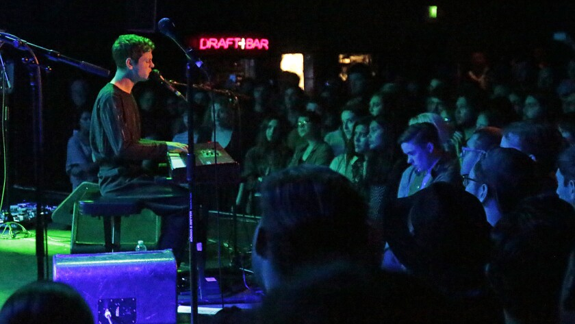 Perfume Genius performs at the Roxy in West Hollywood on Oct. 19, 2014.