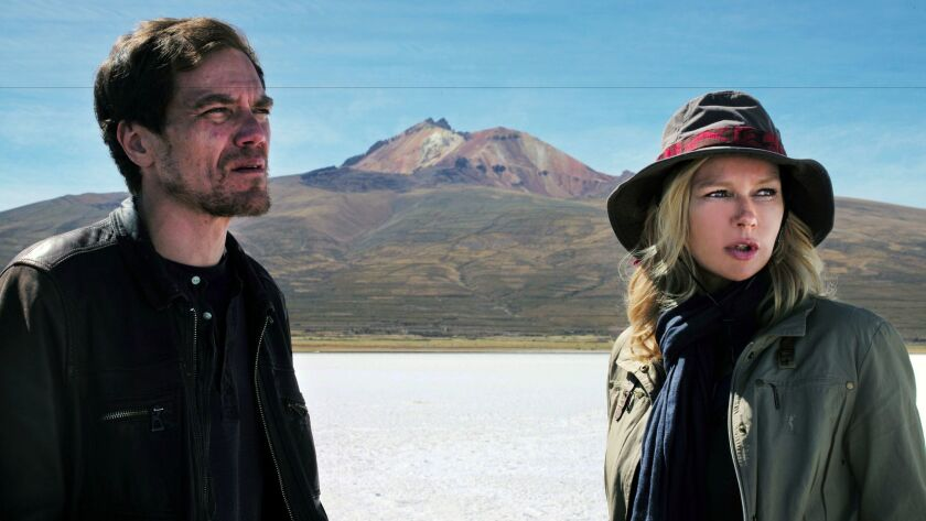 """Michael Shannon and Veronica Ferres in Werner Herzog's """"Salt And Fire."""""""