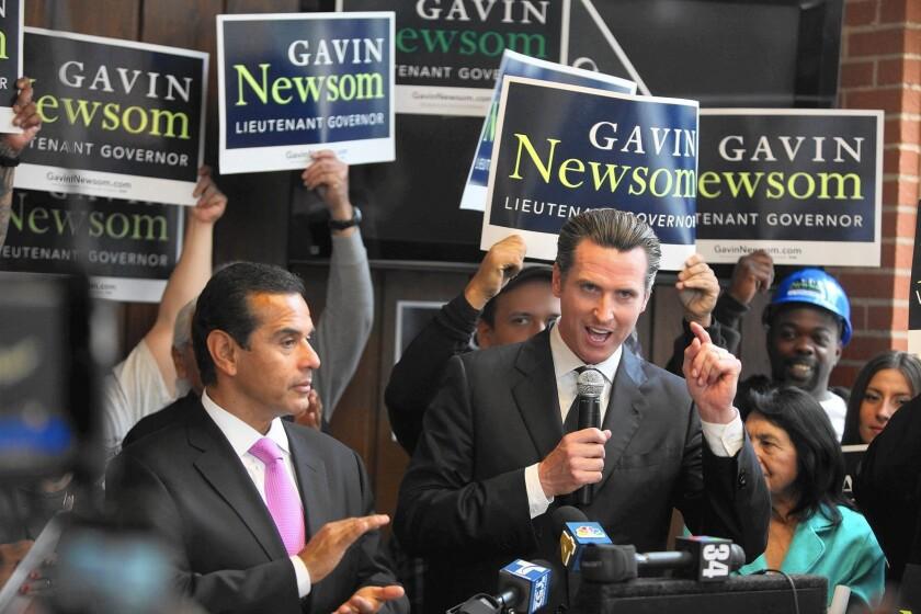 Gavin Newsom, Antonio Villaraigosa