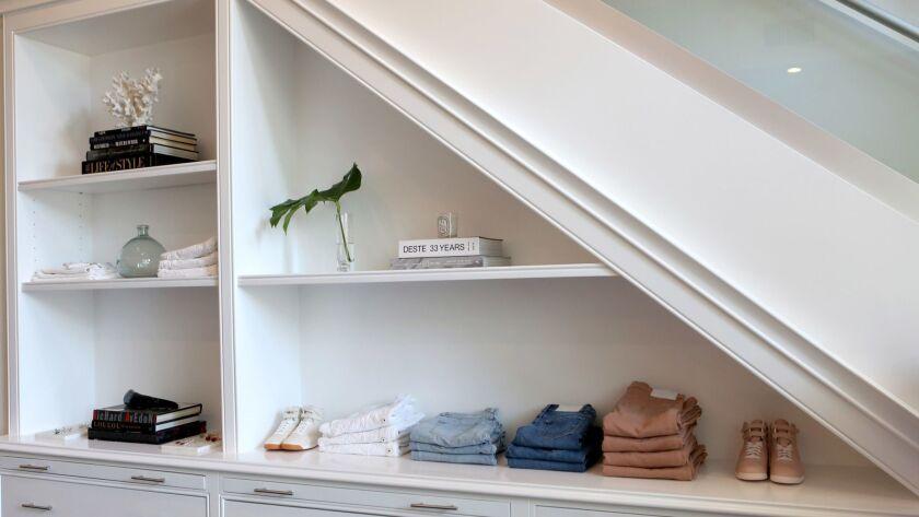 WEST HOLLYWOOD, CA- July 31, 2018: Inside the new Jonathan Simkhai retail store, atelier, headquarte