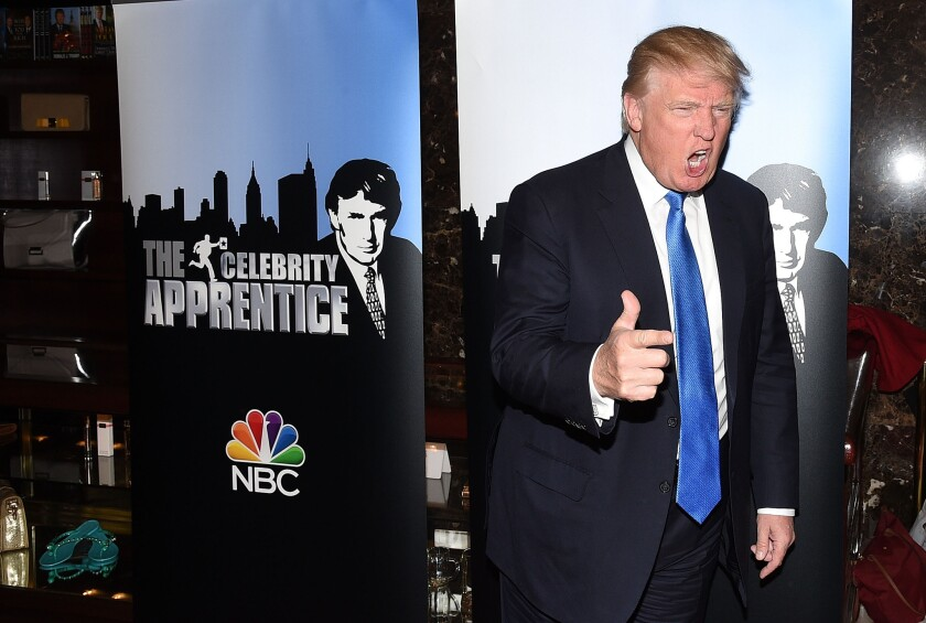 """Donald Trump attends a """"Celebrity Apprentice"""" red carpet event at Trump Tower on February 3, 2015 in New York City."""