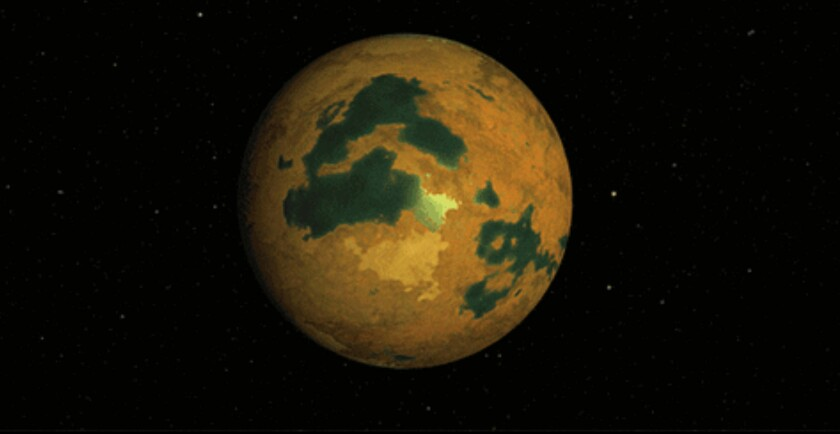 Artist conception of what the planet in constellation Eridanus might look like.