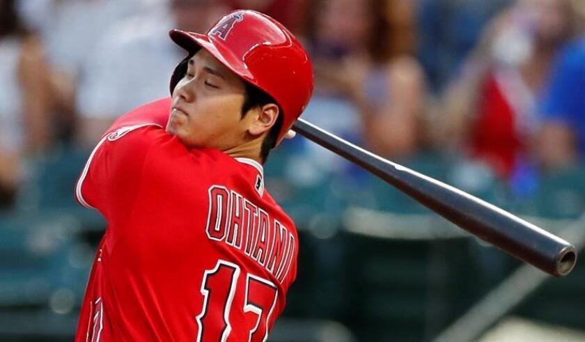 """""""El swing no afecta mi codo"""", dijo Ohtani, quien entró en una racha de jonrones poco después del diagnóstico. EFE/Archivo"""