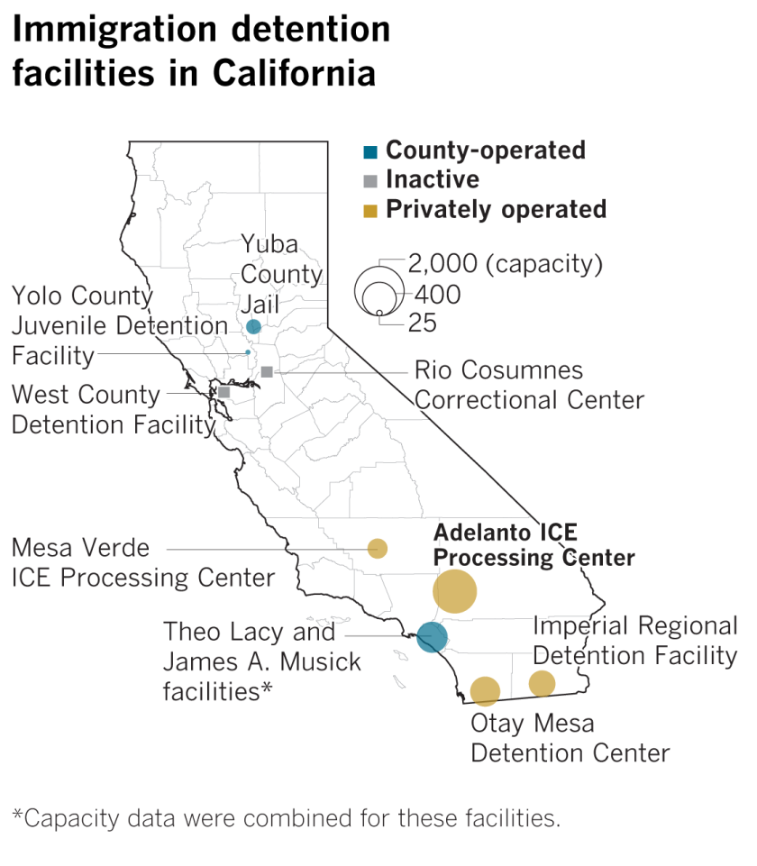 Adelanto cuts ties to troubled ICE detention center — and
