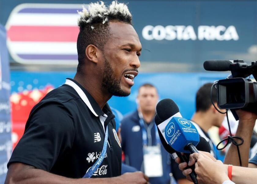 En la imagen, el jugador de la selección de Costa Rica Kendall Waston. EFE/Archivo