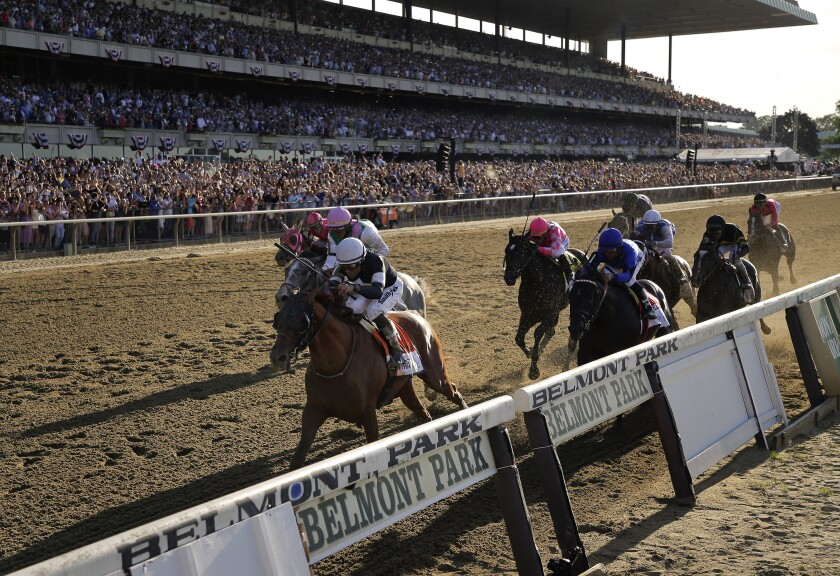 The Belmont Stakes, won a year ago by Sir Winston, will lead off Triple Crown series for first time in history on Saturday.