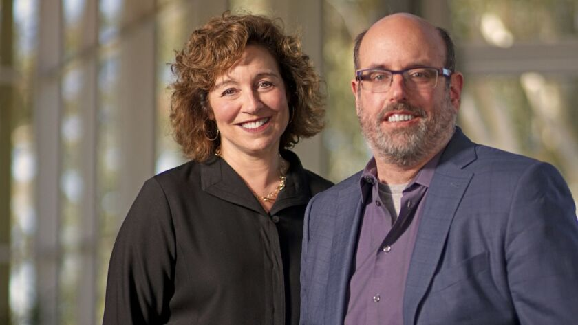 Debby Buchholz has been named managing director of La Jolla Playhouse, joining artistic director Christopher Ashley (right) as the theater's top leaders.