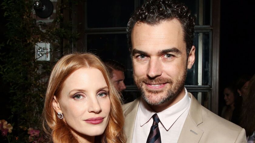 Mandatory Credit: Photo by Brian To/REX/Shutterstock (7429926as) Jessica Chastain and Gian Luca Pas