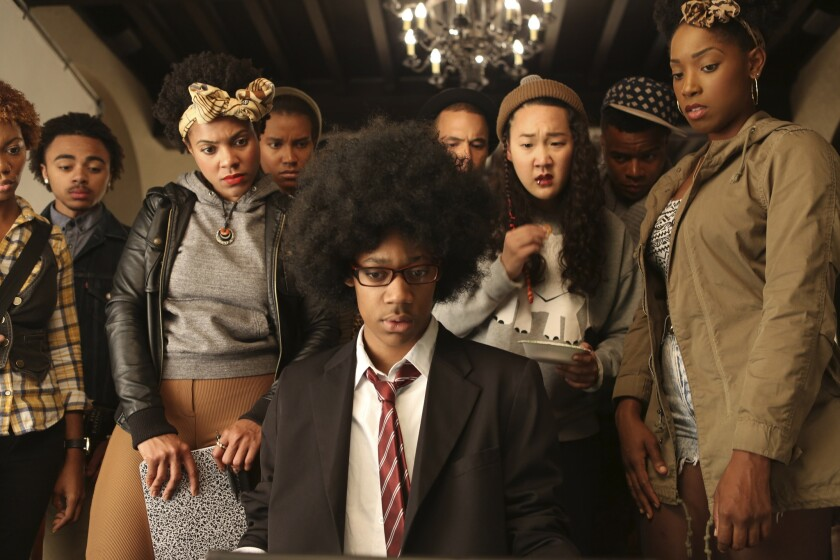 """Tyler James Williams and the cast of """"Dear White People."""""""