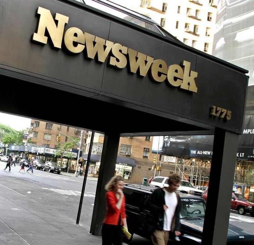 La revista Newsweek despidió este lunes a toda la plana mayor de su redacción, incluidos el redactor jefe, su número dos, y otros tres periodistas, que habían cubierto la investigación judicial contra las cuentas de la compañía, según varios medios. EFE/Archivo
