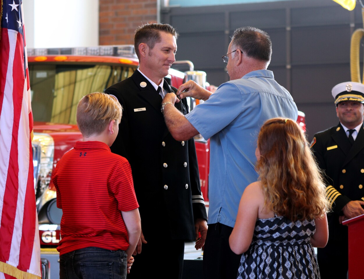 Photo Gallery: Glendale Fire Dept promotes eight