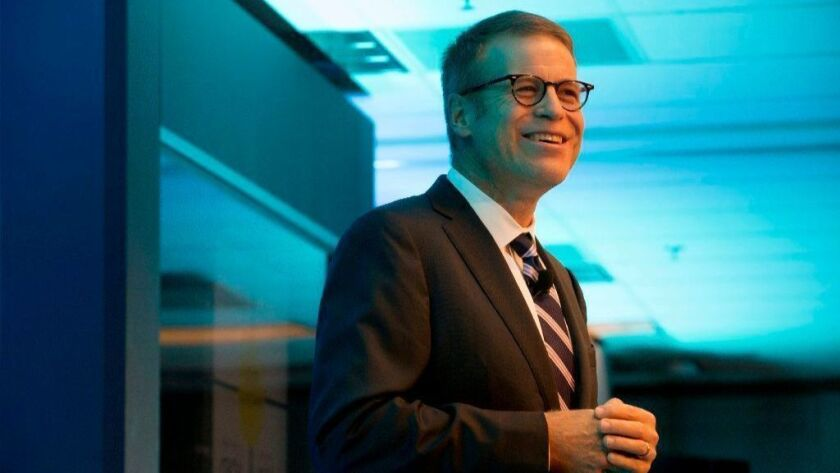 Blake Nordstrom, co-president of department store chain Nordstrom, talks during the 2014 Nordstrom annual shareholders meeting in downtown Seattle. Nordstrom, who led the upscale chain with his brothers Erik and Peter, has died. He was 58.