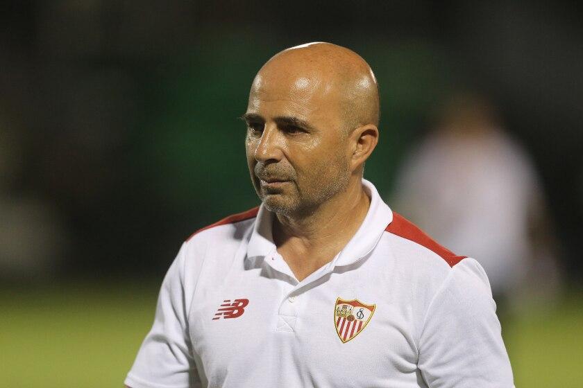 El manager del equipo Sevilla FC Jorge Sampaoli.