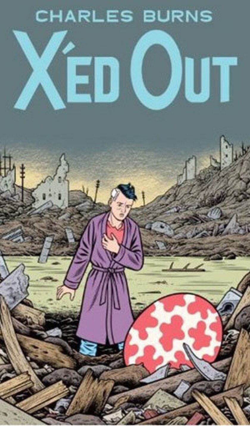 Jacket cover of the book, X'ed Out by Charles Burns.