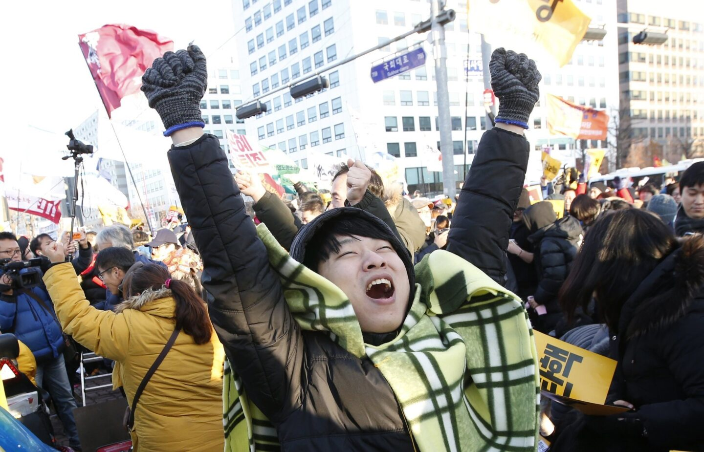 Lawmakers approve impeachment of President Park Geun-hye in South Korea