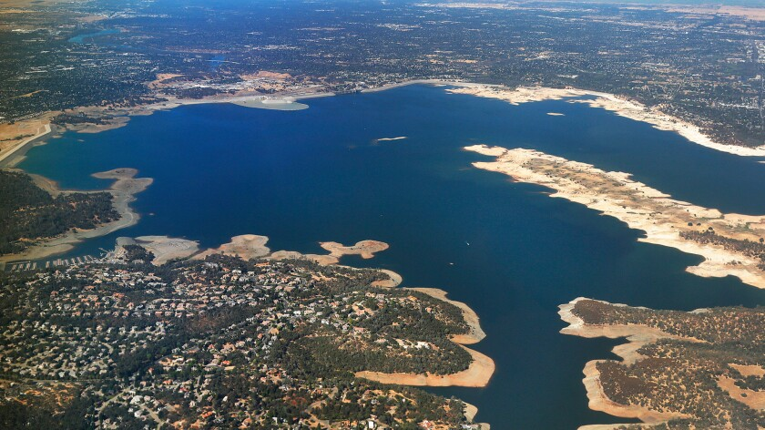Folsom Lake is a reservoir on the American River in the Sierra Nevada foothills. Its auxiliary spillway was designed to provide enhanced protection for the flood-prone Sacramento region.