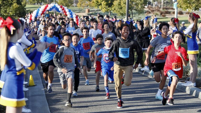 About 700 people of all ages participated in the Fountain Valley Fit Body Bootcamp 5K race and 1-mil