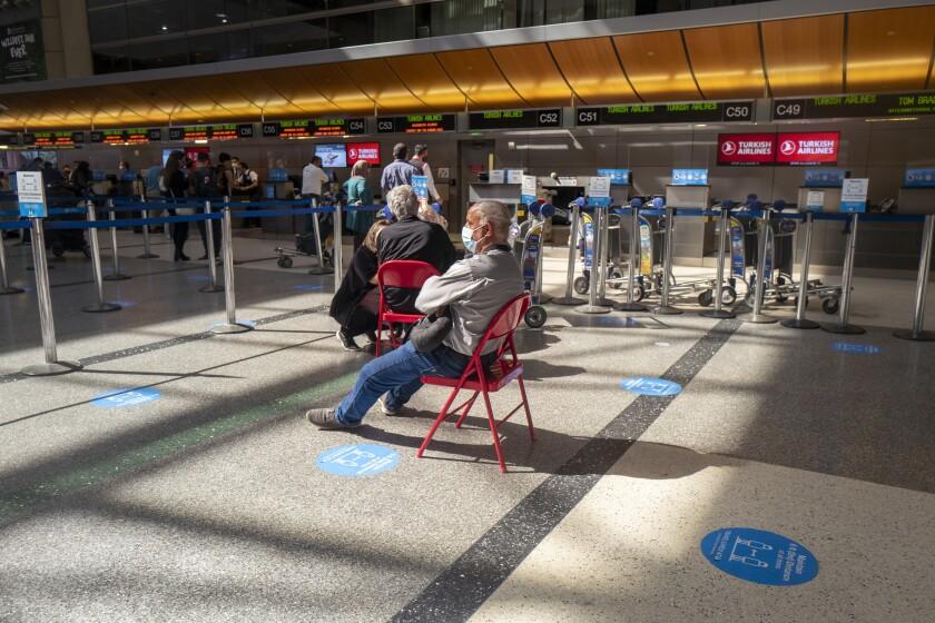 Travelers at LAX