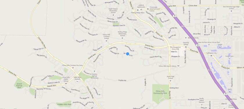 A map shows roughly where a man shot his daughter's ex-boyfriend Wednesday after he was himself stabbed.