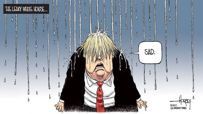 Donald Trump is drenched by leaks.