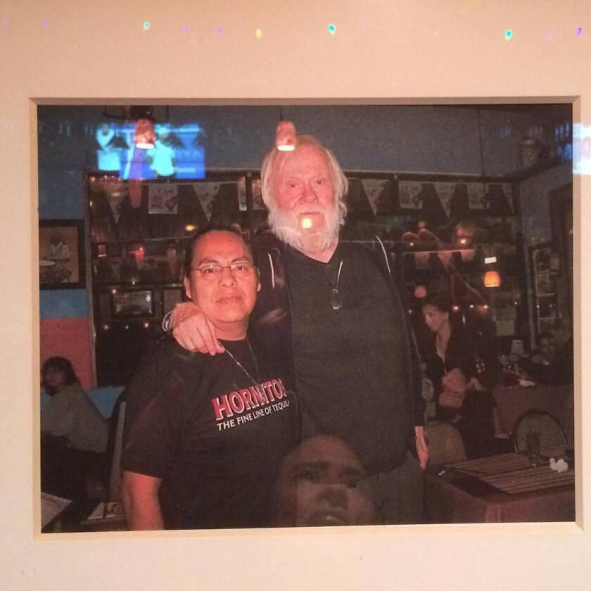 A photo of John Baldessari at El Texate Mexican Restaurant in Santa Monica
